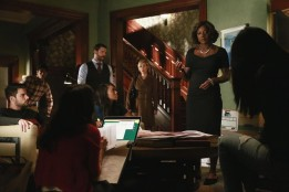 """HOW TO GET AWAY WITH MURDER - """"It's All My Fault"""" - Wes, Connor, Michaela and Laurel may have dug themselves in too deep a hole for Annalise to save them, and the shocking truth about Lila's murder is finally revealed, on the season finale of """"How to Get Away with Murder,"""" THURSDAY FEBRUARY 26 (10:00-11:00 p.m., ET) on the ABC Television Network. (ABC/Mitchell Haaseth)JACK FALAHEE, ALFRED ENOCH, CHARLIE WEBER, AJA NAOMI KING, LIZA WEIL, VIOLA DAVIS"""