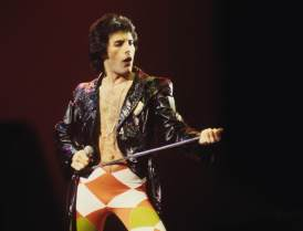 UNITED STATES - DECEMBER 01: MADISON SQUARE GARDEN Photo of Freddie MERCURY and QUEEN, Freddie Mercury performing in stage (Photo by Richard E. Aaron/Redferns)