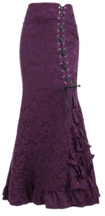 Plum Laced Skirt