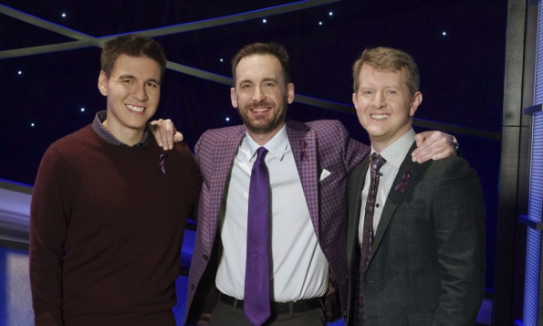 James Holtzhauer, Brad Rutter, Ken Jennings On The Jeopardy Set
