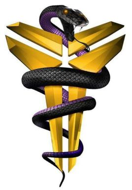 Kobe Bryant Black Mamba Lakers Logo