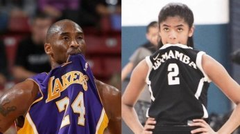 Kobe & Gianna Sporting Their Jerseys