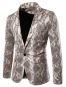Mens Snake Skin Print Party Blazer