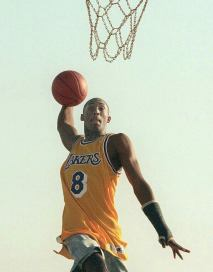 Young Kobe Bryant, Hoops