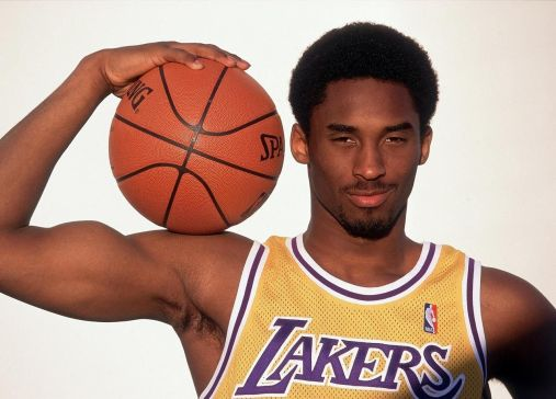 Young Kobe Bryant Striking A Pose