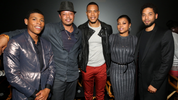 Empire Cast Casual On Set