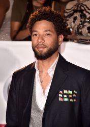 Jussie Smollett with 12 Flag Pins