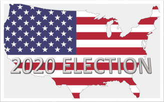 2020 Election American Flag Map