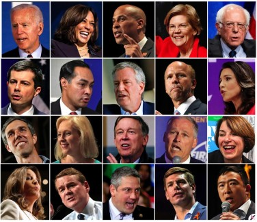 The 20 Democratic Candidates for 2020