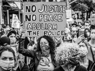 Abolish The Police Protest Sign