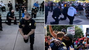 Miami Police Kneel With Protesters