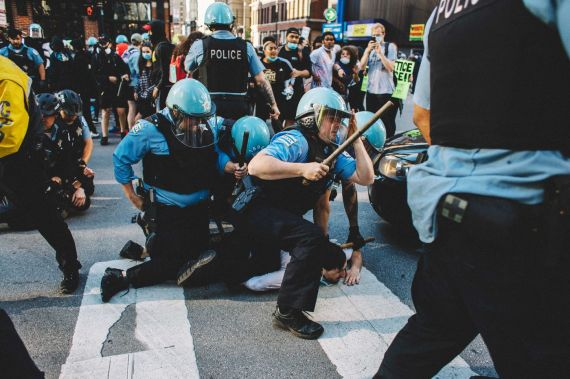 Police And Protesters Go At It