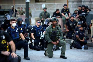 Police Taking A Knee