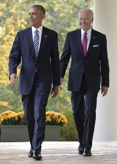 Barack Obama & Joe Biden Steppin'
