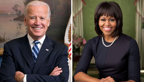 Joe Biden & Michelle Obama