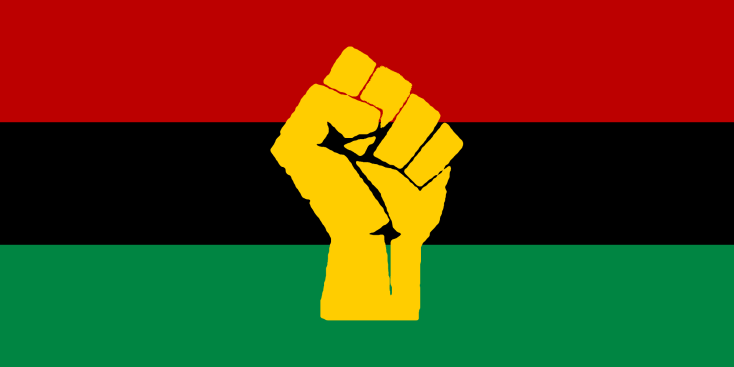 RBG Flag, Black Fist