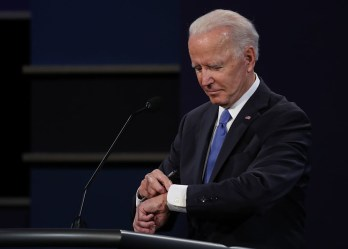 Biden Checking Watch During Belmont Debate