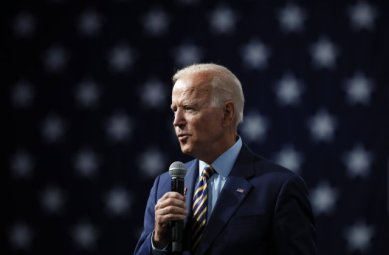 Joe Biden Addressing Supporters