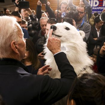 Joe Biden Playing With A Dog