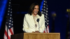 VP Elect Kamala Harris In White For Womens Suffrage