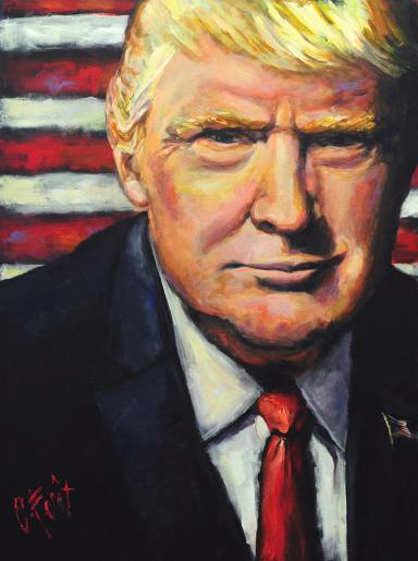 President Trump Art By Carole Foret