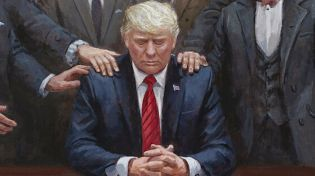 Trump Being Consoled