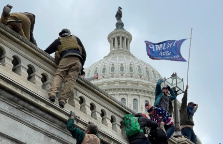 "The United States Capitol Building in Washington, D.C. was breached by thousands of protesters during a ""Stop The Steal"" rally in support of President Donald Trump."