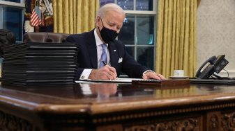 Biden Masked And Signing Executive Orders