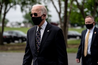 Biden, Masked Up, Out & About