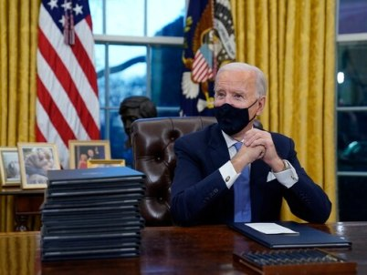 Biden With Some Executive Orders To Sign