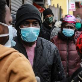 Random Masked Persons, Coronavirus In Communities Of Color
