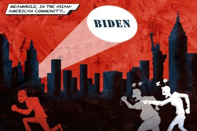 Political Comicbook Art Concerning Chinese And Asians
