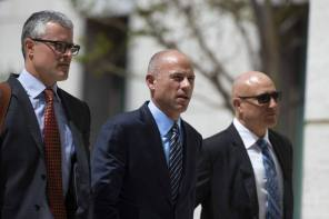 Avenatti Flanked By His Fellow Attorneys