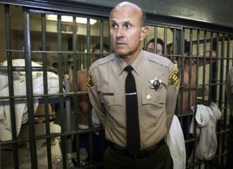 Sheriff Lee Baca, Posing By Some Inmates